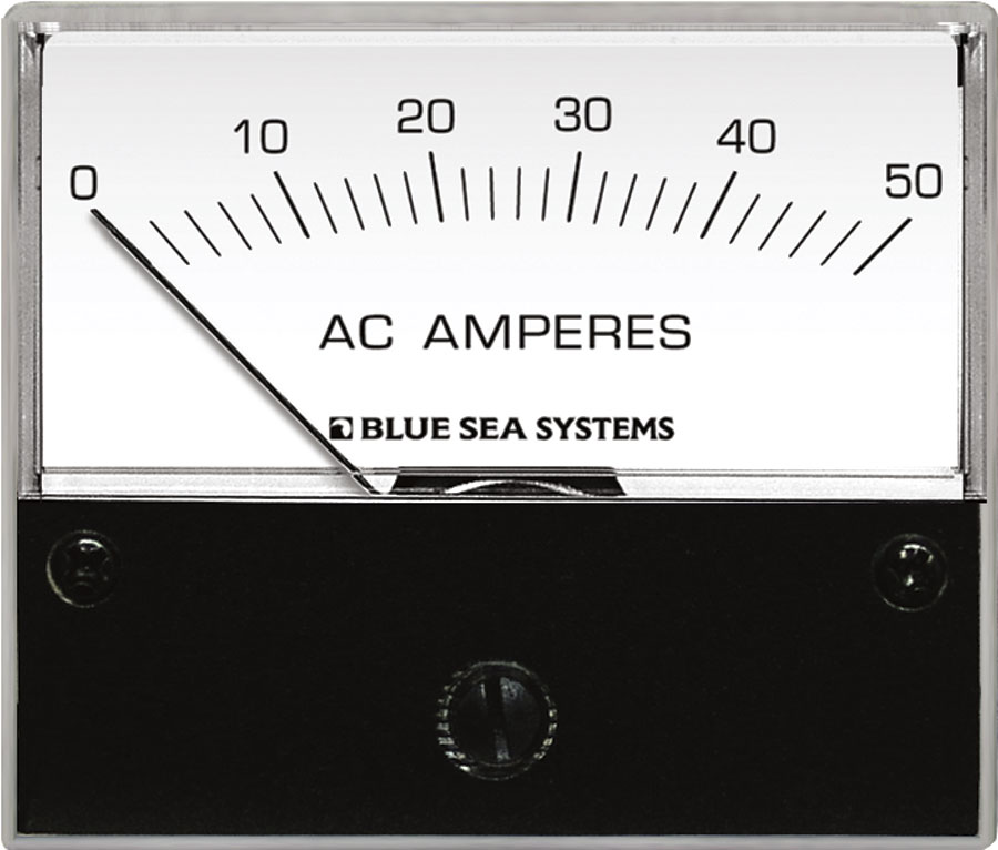 AC Ammeter - 0 to 50A with Coil - Blue Sea Systems